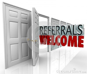 referrals-welcome-attract-new-customers-open-door-words-coming-out-to-encourage-to-refer-friends-family-to-your-31971069